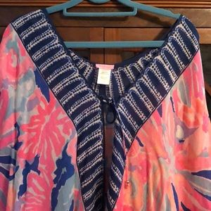 Lilly Pulitzer Cover Up. With tassels. One size.